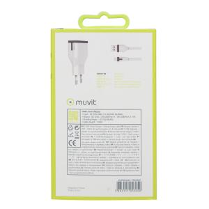 Muvit chargeur maison avec câble Apple lightning connect. - blanc - 2 Amp - 1m