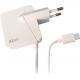 Azuri chargeur maison USB type C - fix cable - 2.4amp - 1.2m - blanc