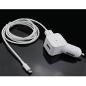 Muvit chargeur voiture Apple lightning connecteur - blanc - 2.4 Amp - 1.2m
